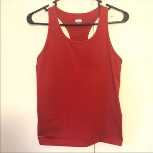 Nike dri fit red racer-back tank top
